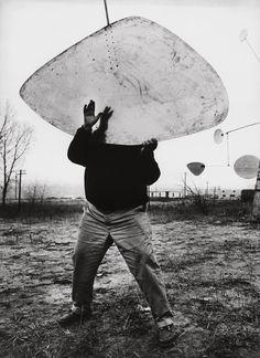 A. Calder photographié par Ugo Mulas - Exposition à la Fondation Cartier-Bresson du 15/01 au 24/04/2016 - Paris