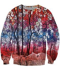 Scribble Forest Crewneck Sweatshirt