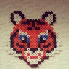 Tiger perler beads by chloe_mer