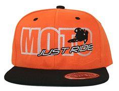 50f9f676311 JUST RIDE Moto Motocross Hat Flat Bill Snapback (LIME BLACK BILL) at Amazon  Men s Clothing store