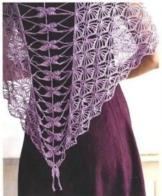 shawl Dragonfly motif - all diagrams on site
