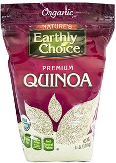 Nature's Earthly Choice: Organic Quinoa (1 x 4 lbs) Nature's Earthly Choice http://www.amazon.com/dp/B0036FB6FY/ref=cm_sw_r_pi_dp_s2A3tb1BPA4RNN06