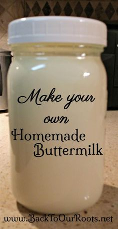 Have you ever thought about making your own homemade cultured buttermilk. It's very simple and I walk you through the process step-by-step. How To Make Buttermilk, Buttermilk Recipes, Homemade Buttermilk, Homemade Cheese, Substitute For Buttermilk, Homemade Spices, Buttermilk Biscuits, Homemade Food, Fermentation Recipes