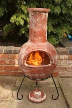 A Mexican Chiminea is a great alternative to a big fire pit if you're limited on space