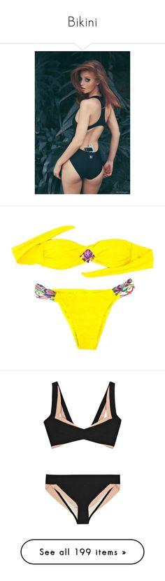 """Bikini"" by nathsouzaz ❤ liked on Polyvore featuring swimwear, bikinis, bikini, bikini swim wear, bikini swimwear, bikini two piece, bikini beachwear, one-piece swimsuits, swim and swimsuits"