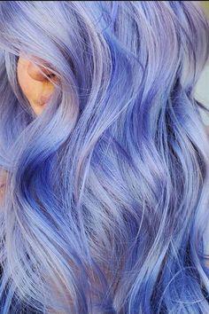 Pretty in Periwinkle 😋 @mrduder 💫 #AFperiwinkle Dyed Hair Blue, Hair Color Blue, Cool Hair Color, Bright Hair, Pastel Hair, Pastel Blue, Arctic Fox Periwinkle, Lavender Hair Colors, Semi Permanent Hair Dye