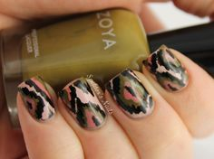 Military Ikat  #nail #nails #nailart