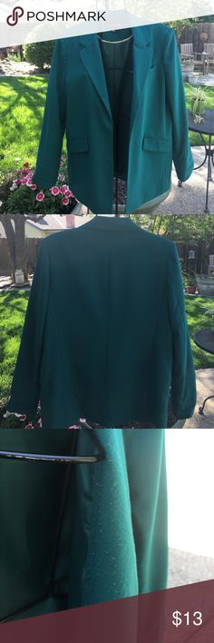 Blazer/Jacket Large dark green blazer. . Has some piling and a couple of snags that are not very noticeable. Piling is on the inside of the jacket where it lays on your chest. Forever 21 Jackets & Coats Blazers