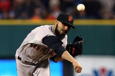 DETROIT, MI - OCTOBER 28: Sergio Romo #54 of the San Francisco Giants throws a pitch against the Detroit Tigers in the tenth inning during Game Four of the Major League Baseball World Series at Comerica Park on October 28, 2012 in Detroit, Michigan.