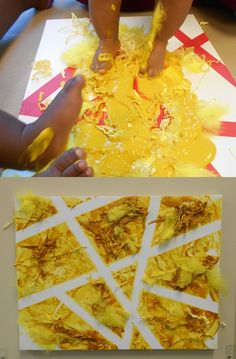 Infants at a Bright Horizons center in NC were happy all the way to the tips of their toes with this sensory activity! Infant teachers integrated textured elements such as feathers, shredded paper, and paint to create a barefoot sensory experience.