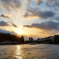 Definitely take the river cruise about an hour before the sun should set and you'll have an amazing view over Notre-Dame.   #paris #travel #wanderlust