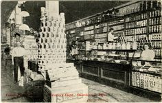 "Cooper Postcard Collection  ""Lamb-Fish Lumber Co. Grocery Dept., Charleston, Miss.""  Charleston, Mississippi, Tallahatchie County"