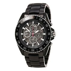 cool Jet-Master Automatic Multi-Function Skeleton Dial Black Ion-plated Mens Watch MK9012 - For Sale Check more at http://shipperscentral.com/wp/product/jet-master-automatic-multi-function-skeleton-dial-black-ion-plated-mens-watch-mk9012-for-sale-2/