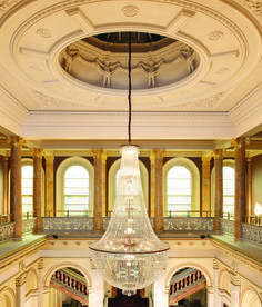 The fabulous chandelier at the painstakingly refurbished The Grosvenor by Guoman, located adjacent to Victoria Station and in walking distance to Buckingham Palace.