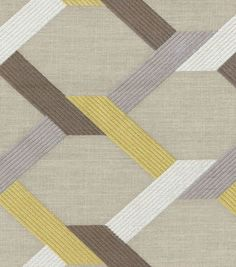 Upholstery Fabric- HGTV Home Posh Embroidery Mineral