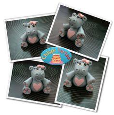 Tutorial paso a paso de un Hipopótamo modelado en fondant