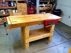Lovely old work bench id e meuble pinterest tablis for Etabli pliant diall