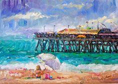 Original Oil Painting landscape #California by Jennifer Beaudet #beach #Redondo