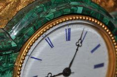 Century Spanish Revival Bronze and Malachite Clock : Lot 250 Spanish Revival, Conquistador, Malachite, 19th Century, Auction, Clock, Bronze, Watch, Clocks