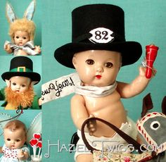 Hazel Twigg No. an Effanbee Babyette vintage composition doll dressed for New Year's, Valentine's, Easter and St. St Pattys, St Patricks Day, Boy Doll, Girl Dolls, Effanbee Dolls, Toddler Dolls, Kewpie, Dimples, Vintage Dolls