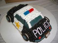 Birthday police cake