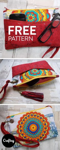 This Clutch is a quick sew. The instructions are clear and include many pictures. The Greta Clutch is the perfect pattern for beginners!
