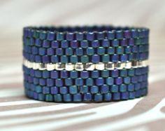 Beaded Rings, Beaded Jewelry, Handmade Jewelry, Beaded Bracelets, Unique Jewelry, Peyote Beading, Bead Crafts, Jewelry Crafts, Necklaces