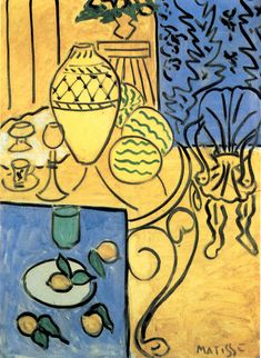Matisse.  Interior in Yellow. 116 x 81 cm.Musée National d'Art ModerneGeorges Pompidou Center, Paris1946