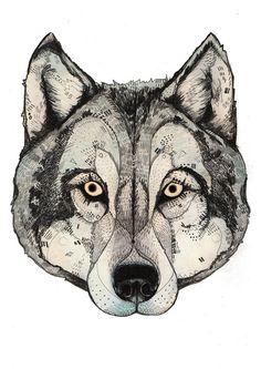 Wolf Mask  by Sandra Dieckmann