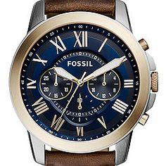 Grant Chronograph Dark Brown Leather Watch