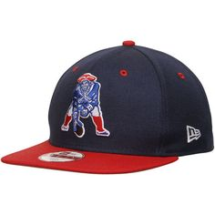Men's New England Patriots New Era Navy NFL 2Tone Throwback Original Fit 9FIFTY Adjustable Hat