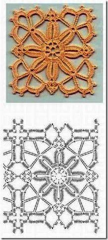 pastilla cuadrada crochet