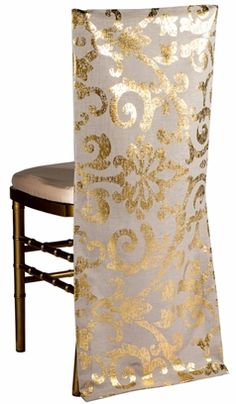 Wildflower Linen Chair Cover-Carrie Gold