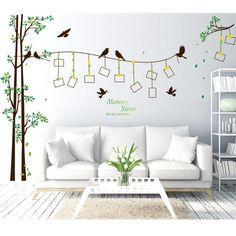 Brand 2017 Large Size Family Photo Frame Tree Wall Sticker Decal Home Decor Living Room Bedroom Wall Stickers Poster DIY Removable Wall Stickers, Wall Stickers Murals, Wall Decals, Wall Stickers With Photos, Mural Wall, Wall Stickers Home Decor, Window Stickers, Family Tree Wall Decal, Tree Wall Art