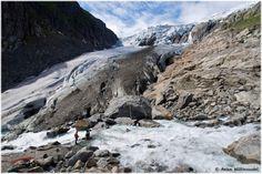 The Buerbreen glacier in Odda is a part of the Folgefonna National Park glacier