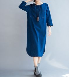 Leisure Maxi Dress fall Loose Fitting Dress in Light by MaLieb