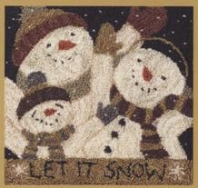 Country Threads :: Punch Needle Embroidery :: Designs by Teresa Kogut :: Let It Snow Punchneedle Kit