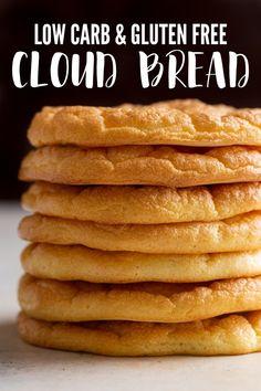 zucchini pizzas Cloud Bread Nuage de pain nu 26 no. Easy Keto Bread Recipe, Lowest Carb Bread Recipe, Easy Bread Recipes, Low Carb Recipes, Healthy Recipes, Steak Recipes, Healthy Eats, Keto Bread Coconut Flour, Keto Flour