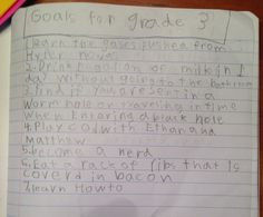12 Super Cute To-Do Lists From Kids Who've Got Their Priorities Straight