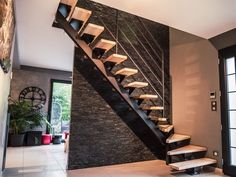 Staircase Architecture, Architecture Design, Home Stairs Design, House Design, Stair Ladder, Tiny House Stairs, Escalier Design, Floating Staircase, Steps Design
