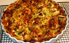 Courgette and Goat's Cheese Crustless Quiche