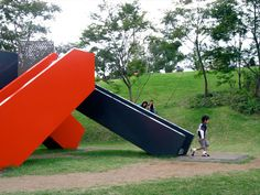 Modern slides that looks like sculpture....