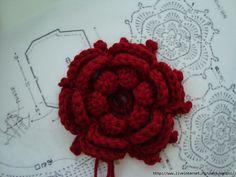 Flower Motif free crochet graph pattern