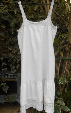 White Victorian Lace Trimmed Dress Monogram by SophieLadyDeParis