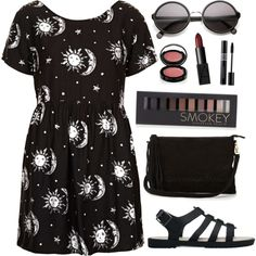 A fashion look from July 2015 featuring Motel dresses, Melissa sandals and Warehouse shoulder bags. Browse and shop related looks.