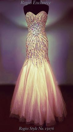 Regiss Exclusive prom 2014: make the most of your natural assets in this gorgeous blushing peach mermaid / fit-and-flare gown emblazoned with Swarovski crystals arranged in a curve-emphasizing pattern! Ask for Regiss style number 15076! #regissexclusive #regissexclusive2014 #sparkle #sweetheart #glamour #corset #mermaid #fitandflare #nude #peach #blush #crystal #sequin #swarovski #crinoline #strapless #prom #prom2014 #regiss #regissprom #regissprom2014 #beading #sequin