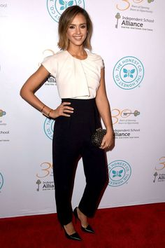 Jessica Alba arrives at The Independent School Alliance for Minority Affairs Impact Awards Dinner at Four Seasons Hotel Los Angeles at Beverly Hills on March 17, 2015.
