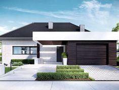 DOM.PL™ - Projekt domu CPT HomeKONCEPT-32 CE - DOM CP1-37 - gotowy koszt budowy Contemporary Architecture, Architecture Design, Bungalow, Best Modern House Design, House Plans Mansion, Modern Garage, Garage Design, Design Case, Home Fashion