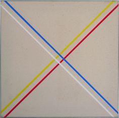 Winfred Gaul, Markierungen XVI, 1973, acrilico su tela, 50x50 cm