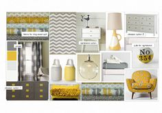 yellow and grey bedroom by sheilah. Create your own interior design moodboard now! Interior Design Classes, Home Interior Design, Interior Ideas, Bedroom Decor, Bedroom Ideas, Master Bedroom, Bedroom Inspiration, Gray Bedroom, Inspiration Boards